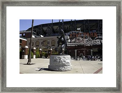 San Francisco Giants Ballpark  Statue Of Juan Marichal Framed Print
