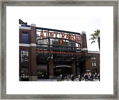 San Francisco Giants Baseball Park Framed Print
