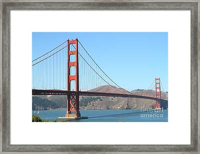 San Francisco Golden Gate Bridge . 7d7802 Framed Print by Wingsdomain Art and Photography