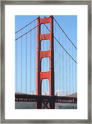 San Francisco Golden Gate Bridge . 7d7804 Framed Print by Wingsdomain Art and Photography