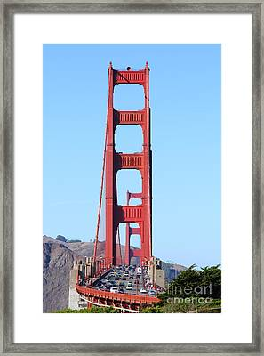 San Francisco Golden Gate Bridge . 7d8146 Framed Print by Wingsdomain Art and Photography