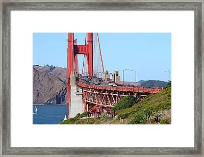 San Francisco Golden Gate Bridge . 7d8151 Framed Print by Wingsdomain Art and Photography