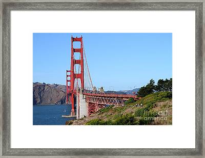 San Francisco Golden Gate Bridge . 7d8158 Framed Print by Wingsdomain Art and Photography