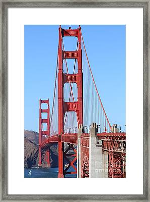 San Francisco Golden Gate Bridge . 7d8164 Framed Print by Wingsdomain Art and Photography