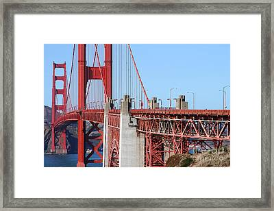 San Francisco Golden Gate Bridge . 7d8166 Framed Print by Wingsdomain Art and Photography