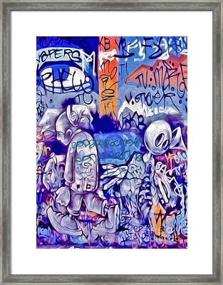Framed Print featuring the photograph San Francisco Graffiti Park - 1 by Gregory Dyer