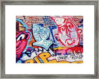 Framed Print featuring the photograph San Francisco Graffiti Park - 2 by Gregory Dyer