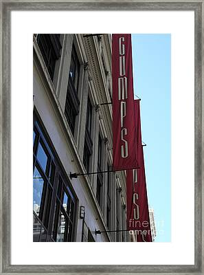 San Francisco Gumps Department Store - 5d17091 Framed Print by Wingsdomain Art and Photography