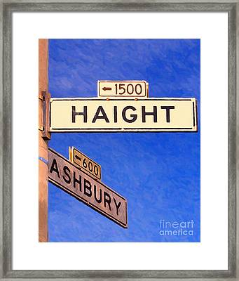 San Francisco Haight Ashbury Framed Print by Wingsdomain Art and Photography