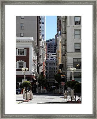 San Francisco Maiden Lane - 5d17059 Framed Print by Wingsdomain Art and Photography