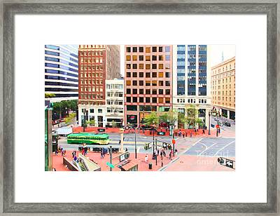 San Francisco Market Street - 5d17877 - Painterly Framed Print by Wingsdomain Art and Photography