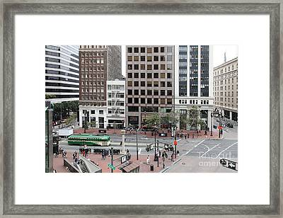 San Francisco Market Street - 5d17877 Framed Print by Wingsdomain Art and Photography