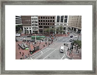 San Francisco Market Street - 5d17879 Framed Print by Wingsdomain Art and Photography