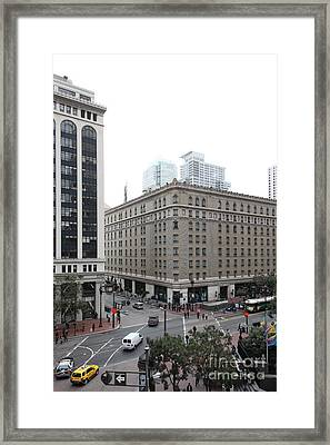 San Francisco Market Street - 5d17886 Framed Print by Wingsdomain Art and Photography