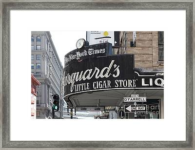 San Francisco Marquard's Little Cigar Store Powell And O'farrell Streets - 5d17954 Framed Print