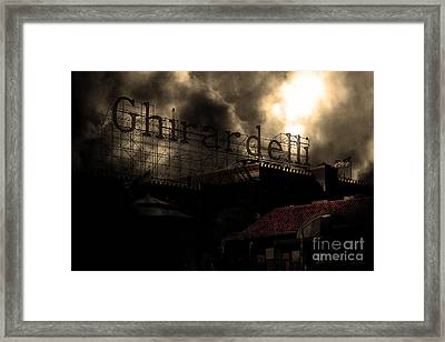 San Francisco Nights At The Old Chocolate Factory . 7d13978 Framed Print by Wingsdomain Art and Photography