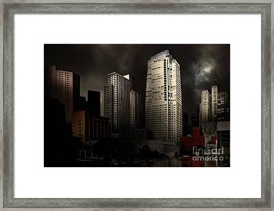 San Francisco Nights At The Yerba Buena Garden . 7d4262 Framed Print by Wingsdomain Art and Photography