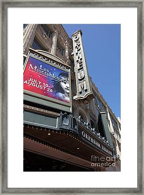 San Francisco Orpheum Theatre - 5d17990 Framed Print by Wingsdomain Art and Photography