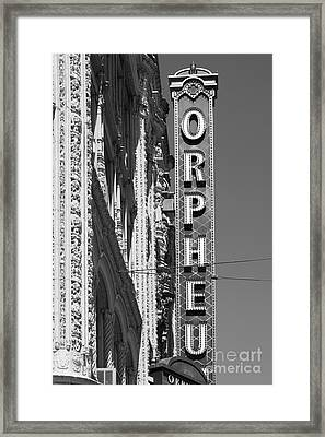 San Francisco Orpheum Theatre - 5d17996 - Black And White Framed Print by Wingsdomain Art and Photography