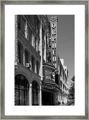 San Francisco Orpheum Theatre - 5d17997 - Black And White Framed Print by Wingsdomain Art and Photography
