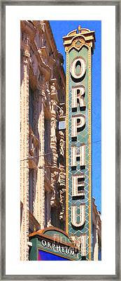 San Francisco Orpheum Theatre - 5d17997 - Painterly Framed Print by Wingsdomain Art and Photography