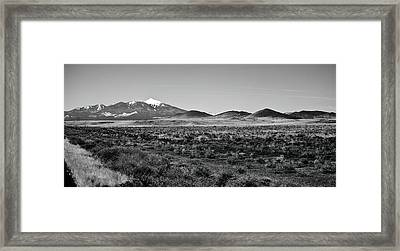 San Francisco Peaks Framed Print by Gilbert Artiaga