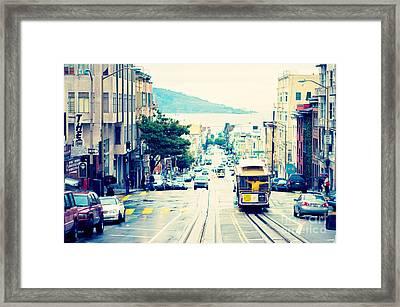 San Francisco Powell Street Cable Car Framed Print by Kim Fearheiley