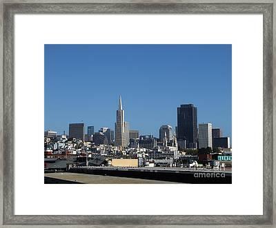 San Francisco Framed Print by Serena Ballard