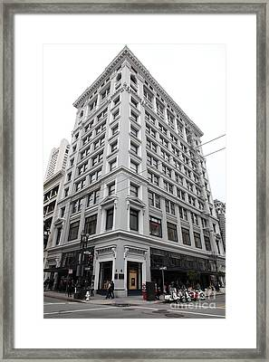 San Francisco Shreve And Company On Grant Street - 5d17918 Framed Print by Wingsdomain Art and Photography