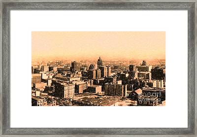 San Francisco Skyline 1909 Showing South Of Market Street Framed Print by Wingsdomain Art and Photography