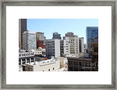 San Francisco Skyline . 7d7490 Framed Print by Wingsdomain Art and Photography