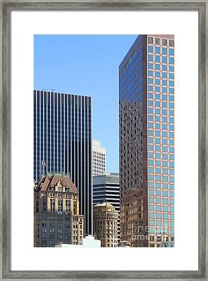 San Francisco Skyline . 7d7508 Framed Print by Wingsdomain Art and Photography