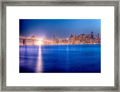 San Francisco Skyline Framed Print by Ariane Moshayedi