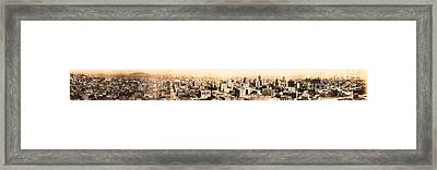 San Francisco Skyline Panorama 1909 From The Ferry Building Through South Of Market Framed Print by Wingsdomain Art and Photography