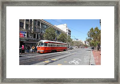 San Francisco Streetcar At The Orpheum Theatre - 5d18000 Framed Print
