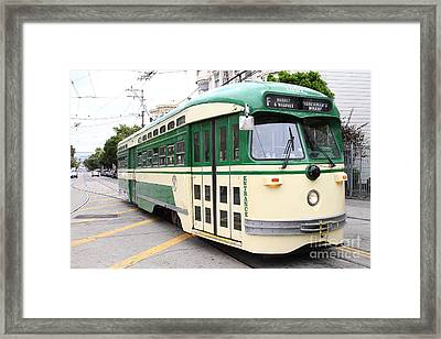 San Francisco Trolley . Castro District  . 7d7556 Framed Print by Wingsdomain Art and Photography