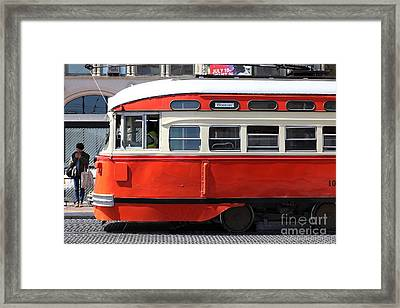 San Francisco Vintage Streetcar On Market Street - 5d18001 Framed Print by Wingsdomain Art and Photography