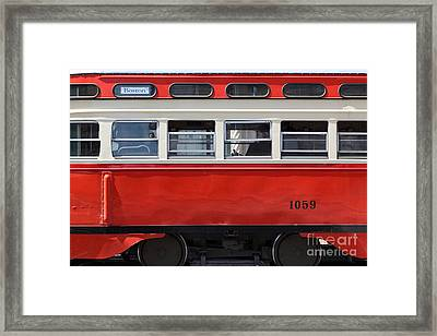 San Francisco Vintage Streetcar On Market Street - 5d18002 Framed Print by Wingsdomain Art and Photography