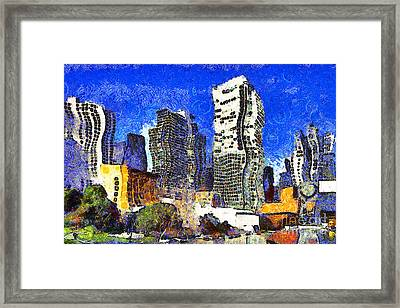 San Francisco Yerba Buena Garden Through The Eyes Of Van Gogh . 7d4262 Framed Print by Wingsdomain Art and Photography
