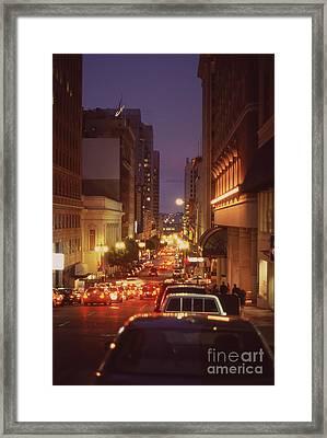 San Francisico Street Framed Print by Thomas Luca