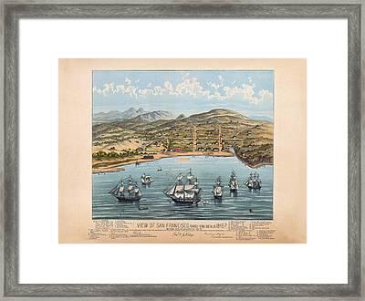 San Fransisco 1846 Framed Print by Donna Leach