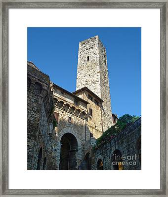 San Gimignano Italy Framed Print by Gregory Dyer