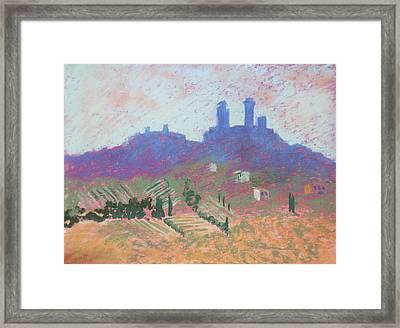 San Gimignano Framed Print by Janet Biondi