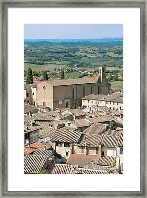 San Gimignano Framed Print by Rob Tilley