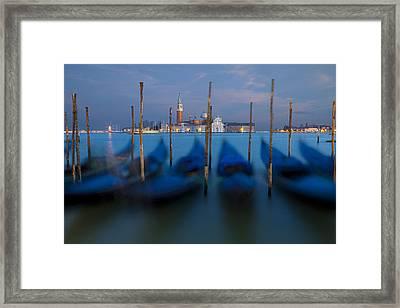 San Giorgio Maggiore With Twilight Sky Framed Print