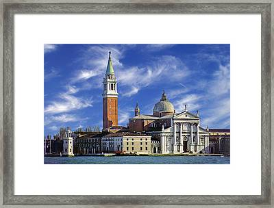 Framed Print featuring the photograph San Giorgio by Rod Jones