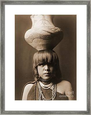 San Ildefonso Girl Framed Print by Padre Art