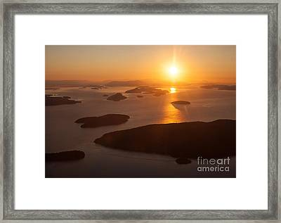 San Juan Islands Sunset Evening Framed Print