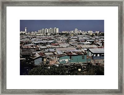 San Juan Puerto Rico. Modern Buildings Framed Print by Everett