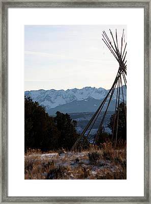 Framed Print featuring the photograph San Juan Range by Marta Alfred